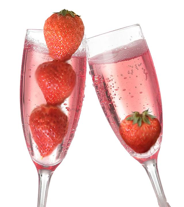 イチゴたっぷりスパークリングワイン