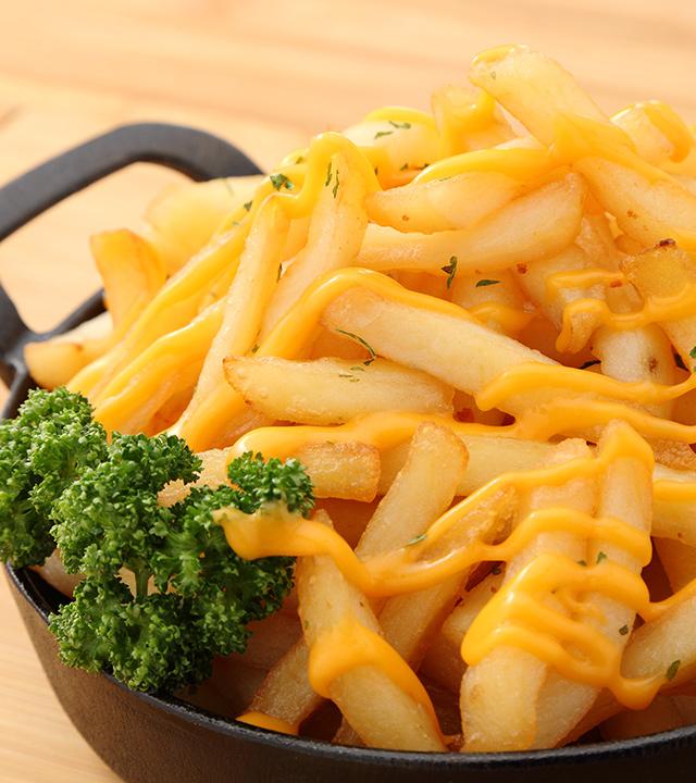 チーズがけ メガ盛りポテト